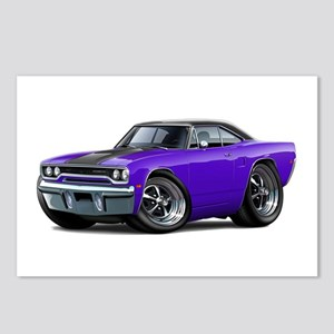 1970 Roadrunner Purple-Black Car Postcards (Packag