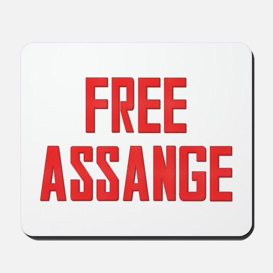 Free Assange Mousepad