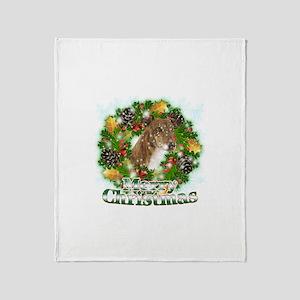 Merry Christmas Greyhound Throw Blanket