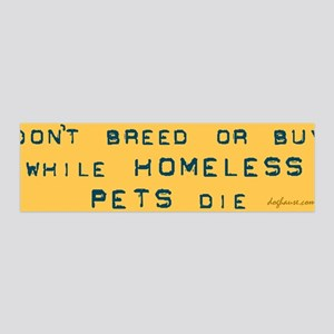 Do Not Breed or Buy Labels 36x11 Wall Peel