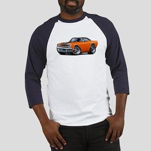 1970 Roadrunner Orange-Black Car Baseball Jersey