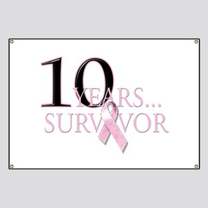 10 Years Breast Cancer Surviv Banner