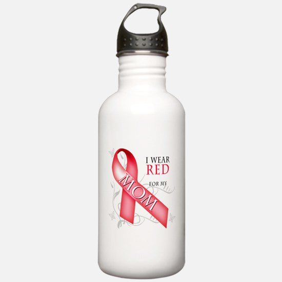 I Wear Red for my Mom Water Bottle