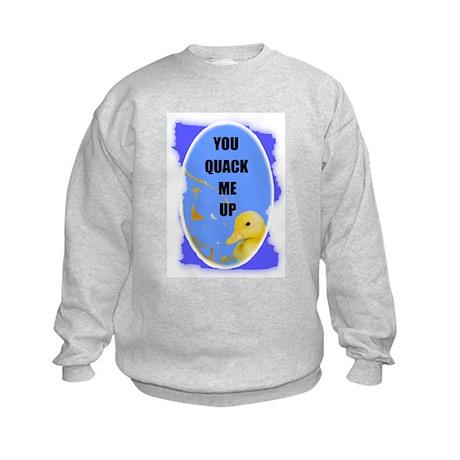 YOU QUACK ME UP (BABY DUCK) Kids Sweatshirt