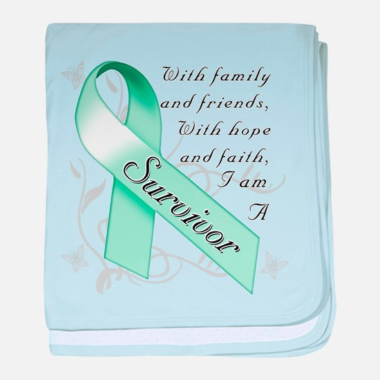 Ovarian Cancer Survivor baby blanket