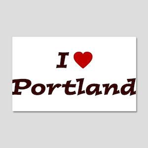I HEART PORTLAND 20x12 Wall Peel