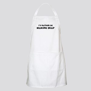 Rather be Making Soap BBQ Apron