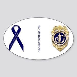 Badge and support ribbon Sticker (Oval)