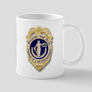 Badge and support ribbon Mug