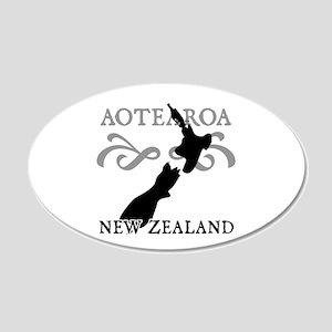 Aotearoa New Zealand 20x12 Oval Wall Peel