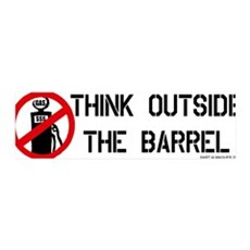 Think Outside the Barrel 36x11 Wall Peel