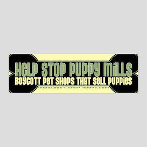 Help Stop Puppy Mills 36x11 Wall Peel