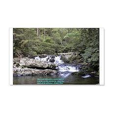 Waterfall w/poem 20x12 Wall Peel