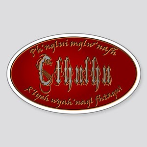 Cthulhu Waits Sticker (Oval)