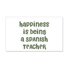 Happiness is being a SPANISH Sticker (Rectangular