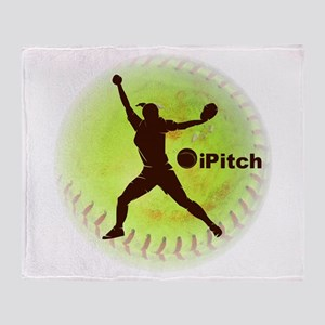 iPitch Fastpitch Softball Throw Blanket