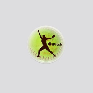 iPitch Fastpitch Softball Mini Button