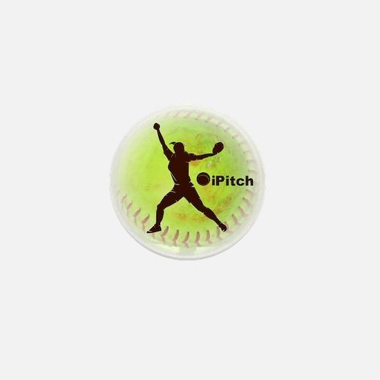iPitch Fastpitch Softball Mini Button