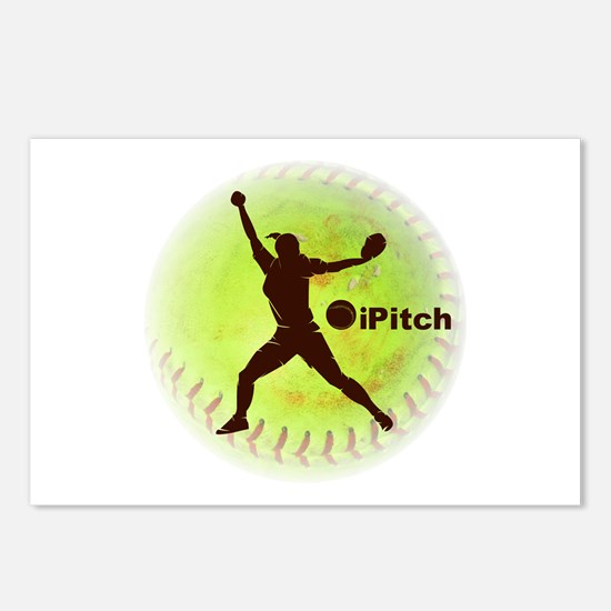 iPitch Fastpitch Softball Postcards (Package of 8)