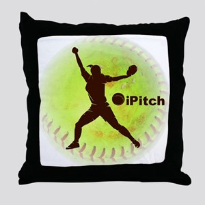 iPitch Fastpitch Softball Throw Pillow