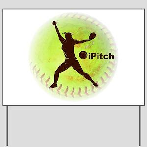 iPitch Fastpitch Softball Yard Sign