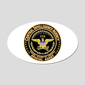 CIA CIA CIA 20x12 Oval Wall Peel