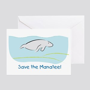 Save the Manatee! Greeting Card