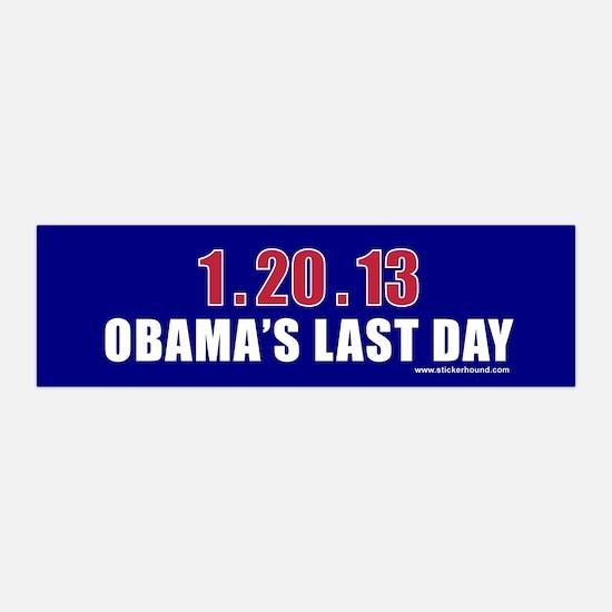 1.20.13 Obama's Last Day 36x11 Wall Peel