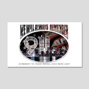 Remembering 9/11 20x12 Wall Peel