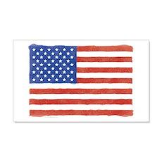 Watercolor USA Flag: 20x12 Wall Peel