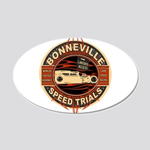 BONNEVILLE SALT FLAT TRIBUTE 20x12 Oval Wall Peel