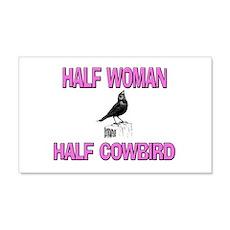 Half Woman Half Cowbird 20x12 Wall Peel