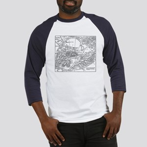 Ancient Athens Map Baseball Jersey