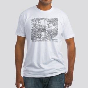 Ancient Athens Map Fitted T-Shirt