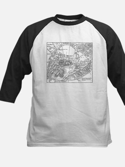 Ancient Athens Map Kids Baseball Jersey