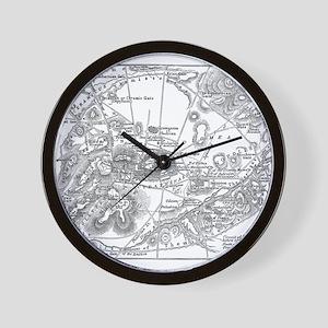 Ancient Athens Map Wall Clock