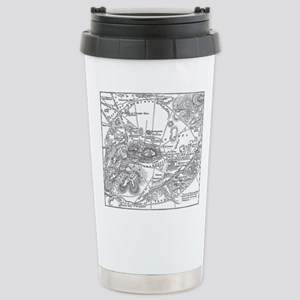 Ancient Athens Map Stainless Steel Travel Mug