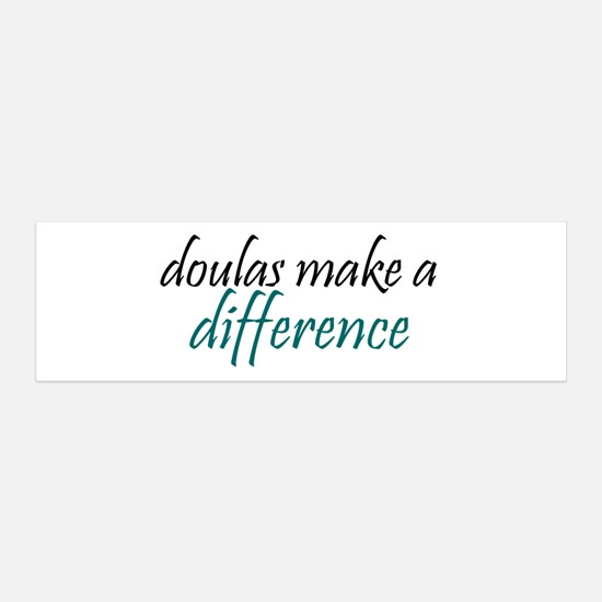 doulas make a difference 36x11 Wall Peel