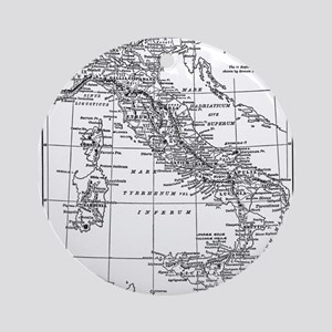 Augustus' Italy Map Ornament (Round)