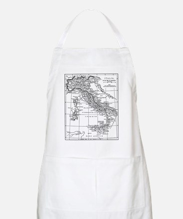 Augustus' Italy Map BBQ Apron