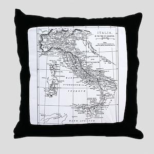 Augustus' Italy Map Throw Pillow