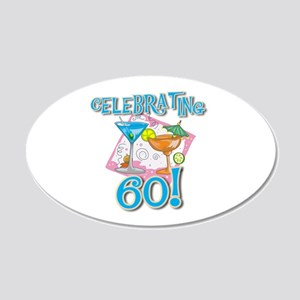 Celebrating 60 20x12 Oval Wall Peel