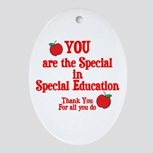 Special Education Ornament (Oval)