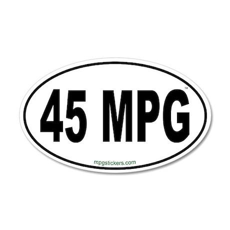 45 MPG Euro Sticker