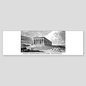 Exegi Monumentum Sticker (Bumper)