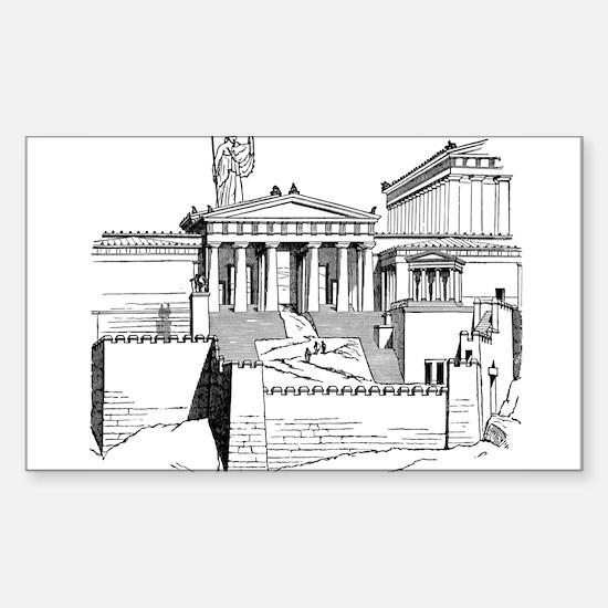 Acropolis Approach Sticker (Rectangle)