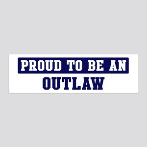 Proud to be Outlaw 36x11 Wall Peel