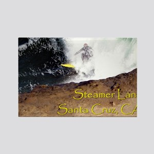 Surfing Santa Cruz Tee Rectangle Magnet