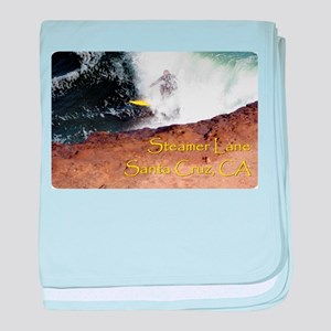 Surfing Santa Cruz Tee baby blanket