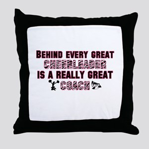 Great Cheer Coach - Pink Zebr Throw Pillow
